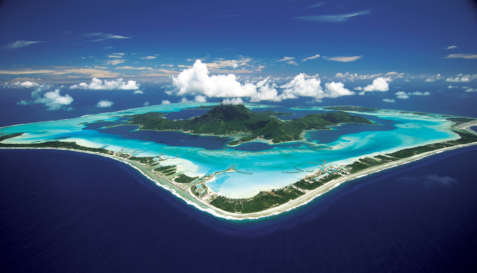 Bora Bora Island - Anchorage And Peak