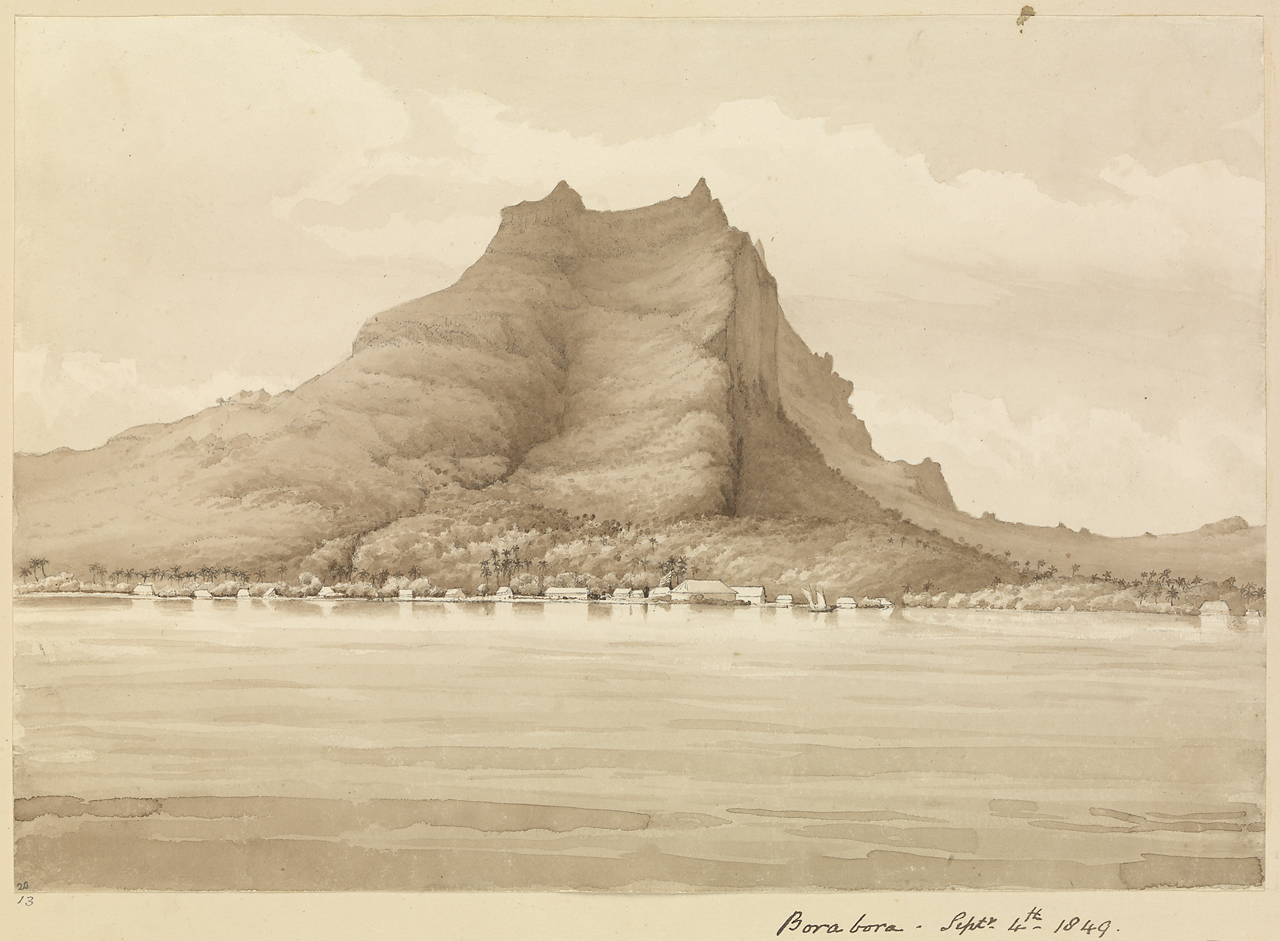 History Of Bora Bora - The Anchorage And Peak
