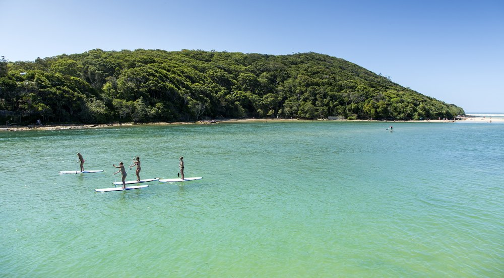 Stand-Up-Paddle-Boarding-In-Tallebudgera-Creek-Queensland-Australia
