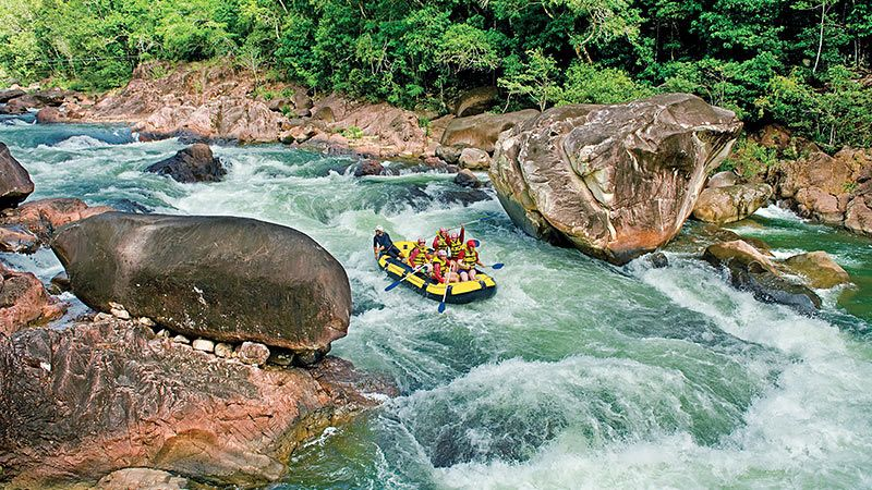White Water Rafting At Tully River