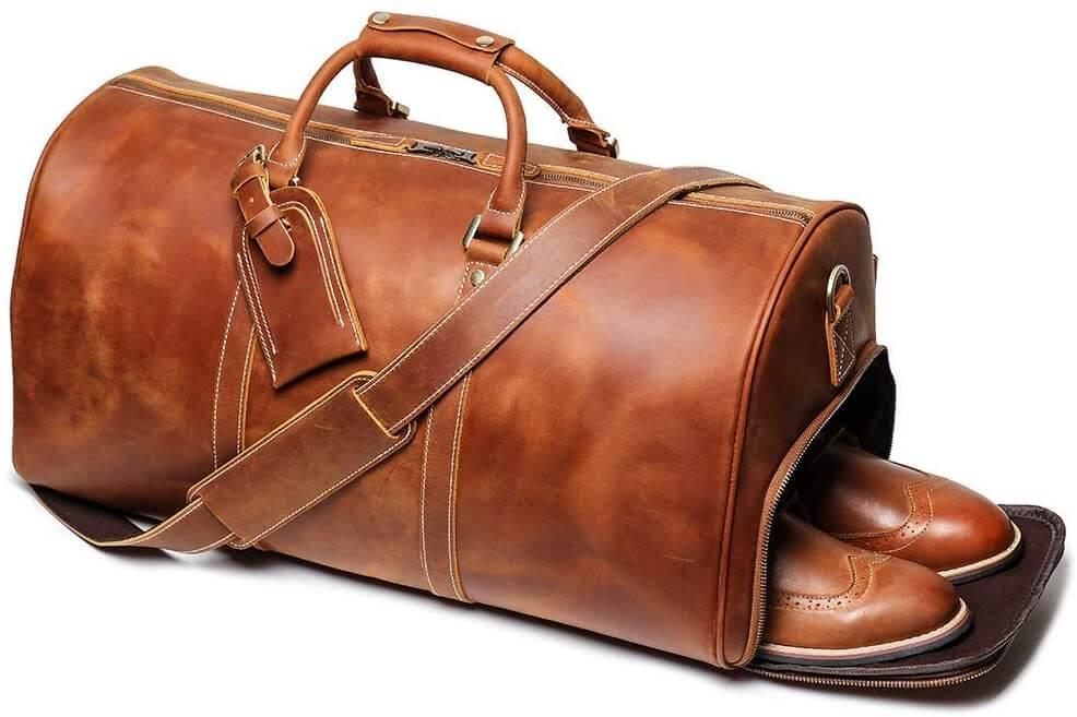 24 Inch Leather Duffel Bags For Men And Women