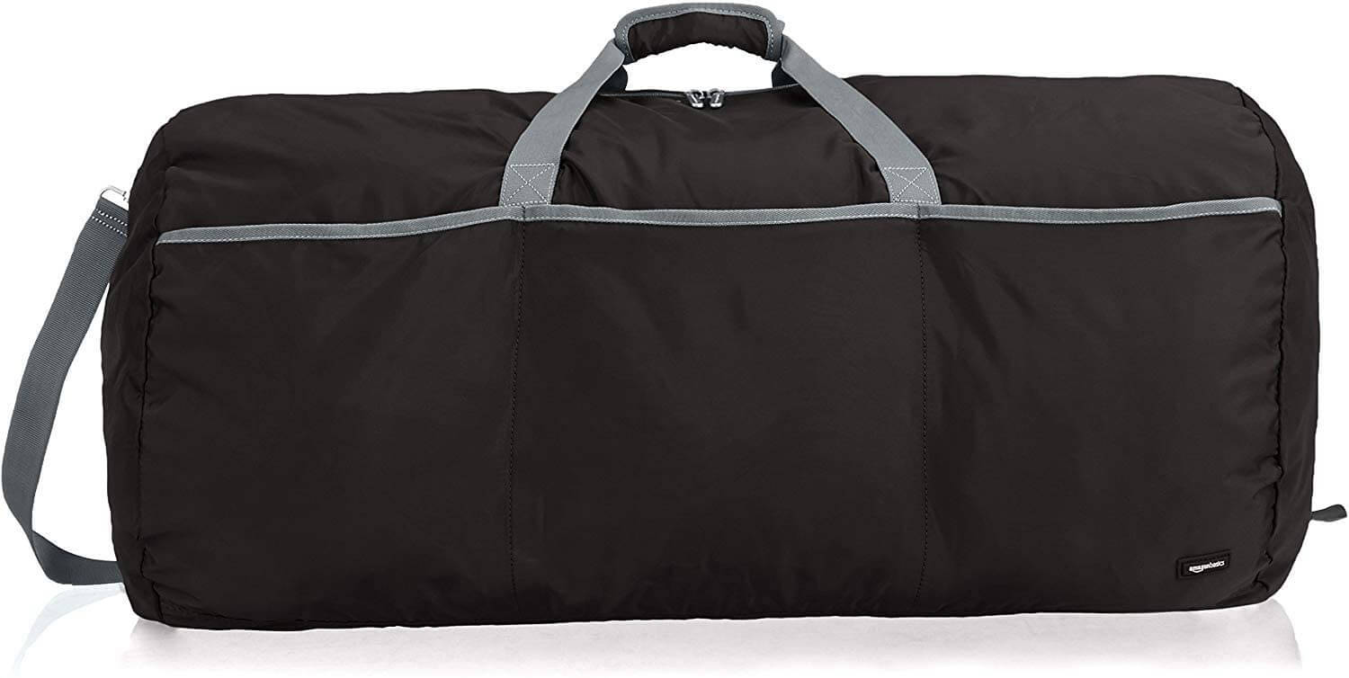 Amazon Basics Large Travel Luggage Duffel Bag Black