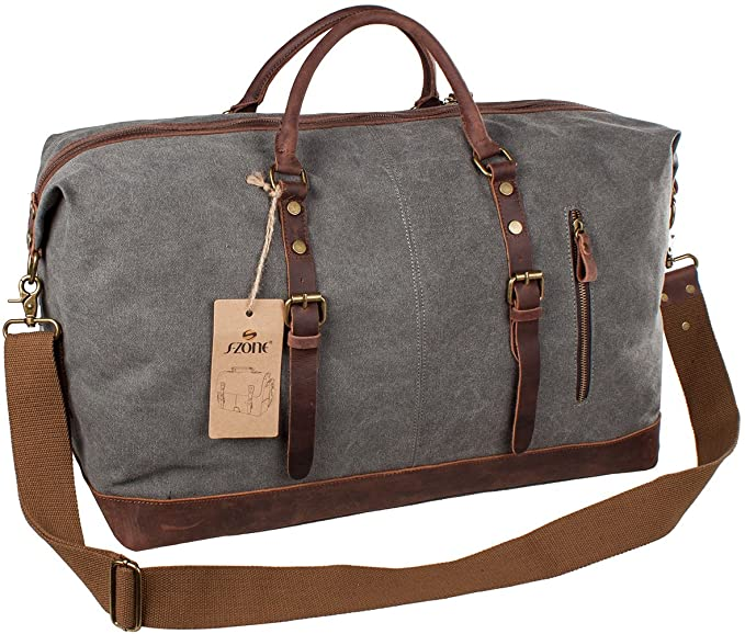 S-Zone Oversized Canvas Travel Tote Duffel