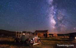Bodie Ghost Town Night